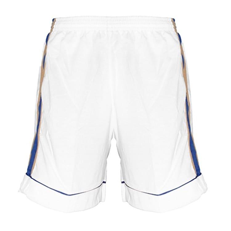 Calção de Futebol Arzani Branco com Dourado e Azul Royal - UNIPLACE ... b88d402bc0b2f
