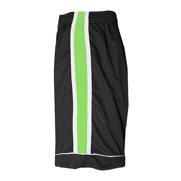 Calção de Futebol Arzani Preto com Branco e Verde Limão - UNIPLACE ... eb7ec8e1eaacd