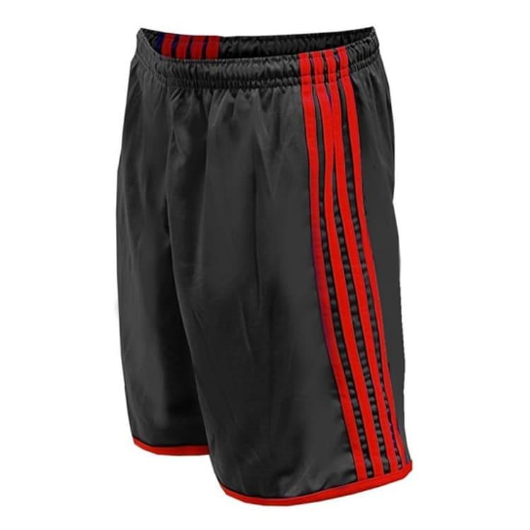 dd54e5b845 Calção de Futebol Luxo Preto com Vermelho - UNIPLACE - Coletes e ...
