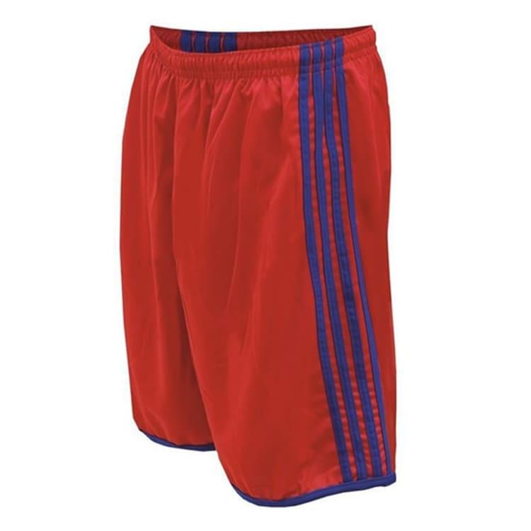 Calção de Futebol Luxo Vermelho com Azul Royal - UNIPLACE - Coletes ... ba16d79d8cda7