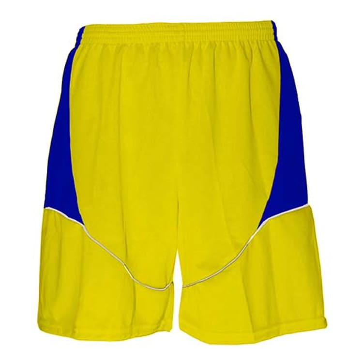 Calção de Futebol Munique Amarelo com Azul Royal e Branco - UNIPLACE ... b287970a1ca44