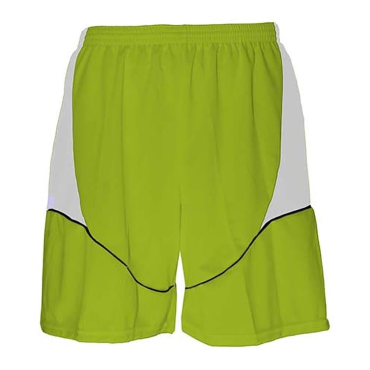 Calção de Futebol Munique Verde Limão com Branco e Preto - UNIPLACE ... 2793a05a00c54