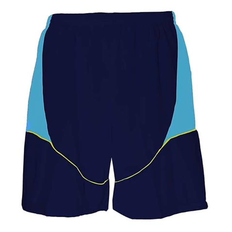 4df5039e0c Calção de Futebol Munique Azul Marinho com Celeste e Amarelo ...