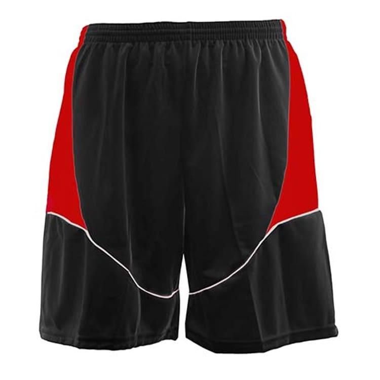 Calção de Futebol Munique Preto com Vermelho e Branco - UNIPLACE ... ebbd519a5346c