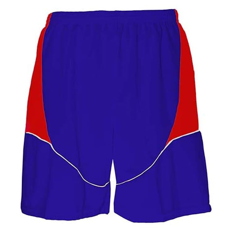 Calção de Futebol Munique Azul Royal com Vermelho e Branco ... 523003a6db019