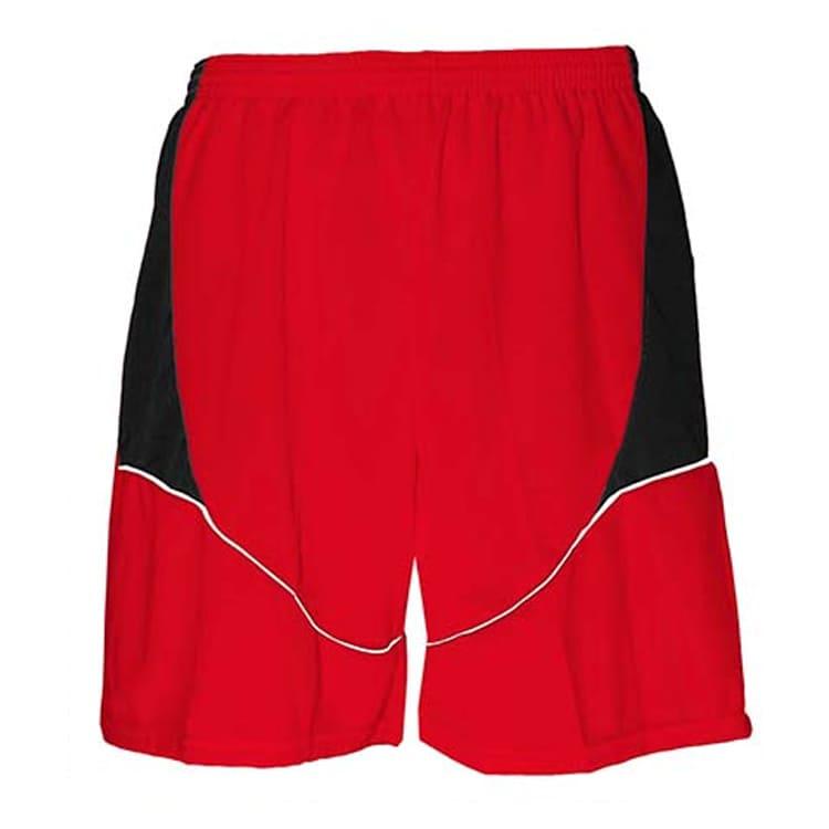 0e211c8186 Calção de Futebol Munique Vermelho com Preto e Branco - UNIPLACE ...