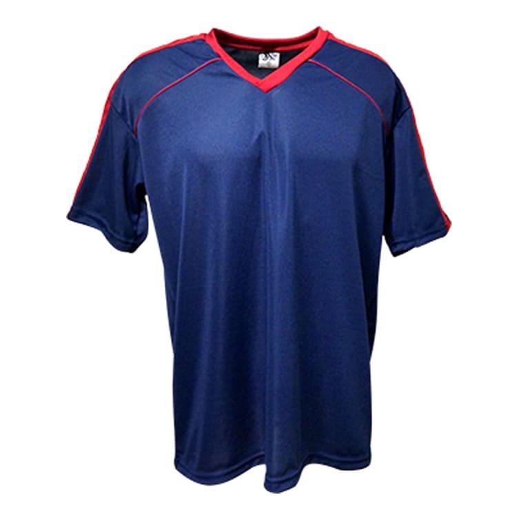 6263482e88 Camisa de Futebol Arezzo Azul Marinho com Vermelho - UNIPLACE ...