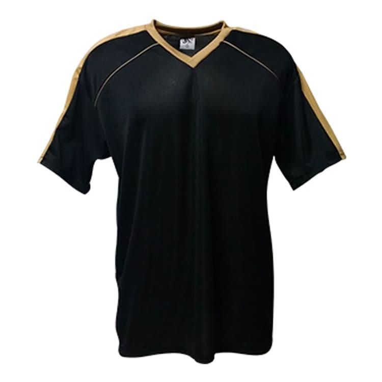 f65f5569e1 Camisa de Futebol Arezzo Preto com Dourado - UNIPLACE - Coletes e ...