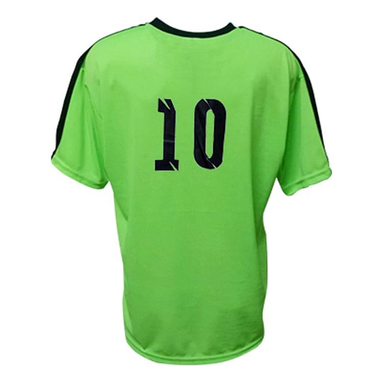 d8ed6946b5 Kit Uniforme de Futebol Arezzo Verde Limão com Preto - UNIPLACE ...