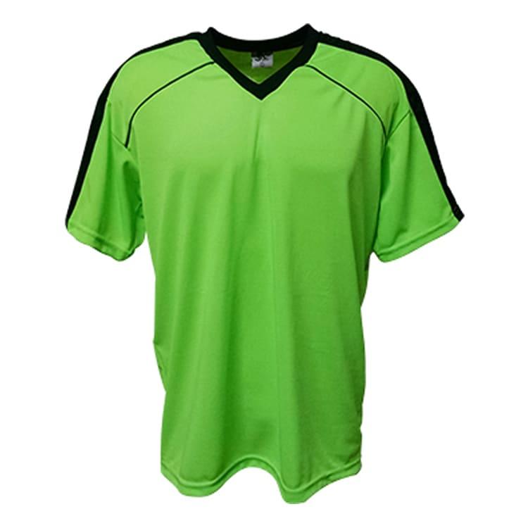 Camisa de Futebol Arezzo Verde Limão com Preto - UNIPLACE - Coletes ... 16f2c2af58ce3