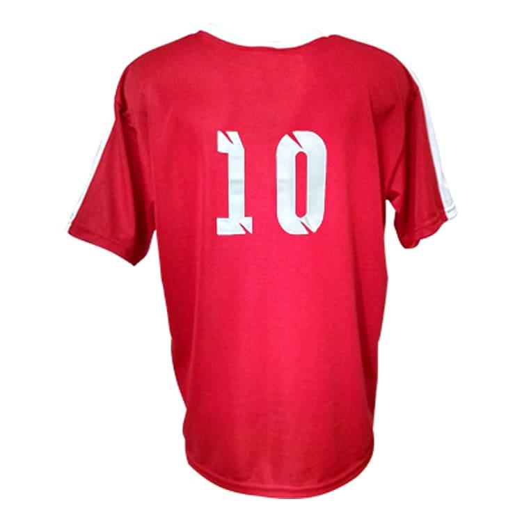 c426abde00 Camisa de Futebol Arezzo Vermelha com Branco - UNIPLACE - Coletes e ...