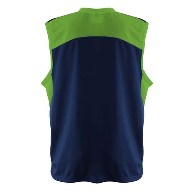 Camisa de Basquete Azul Marinho com Verde Limão - UNIPLACE - Coletes ... 35bd58fbf1e43