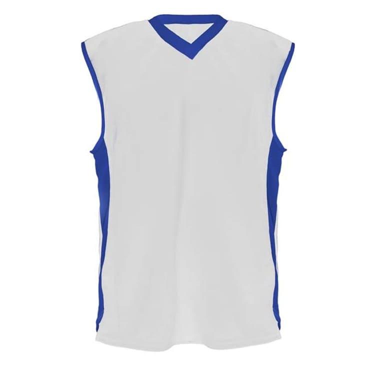 Camisa de Basquete Branco com Azul Royal - UNIPLACE - Coletes e ... 7c8b54f2e14b6