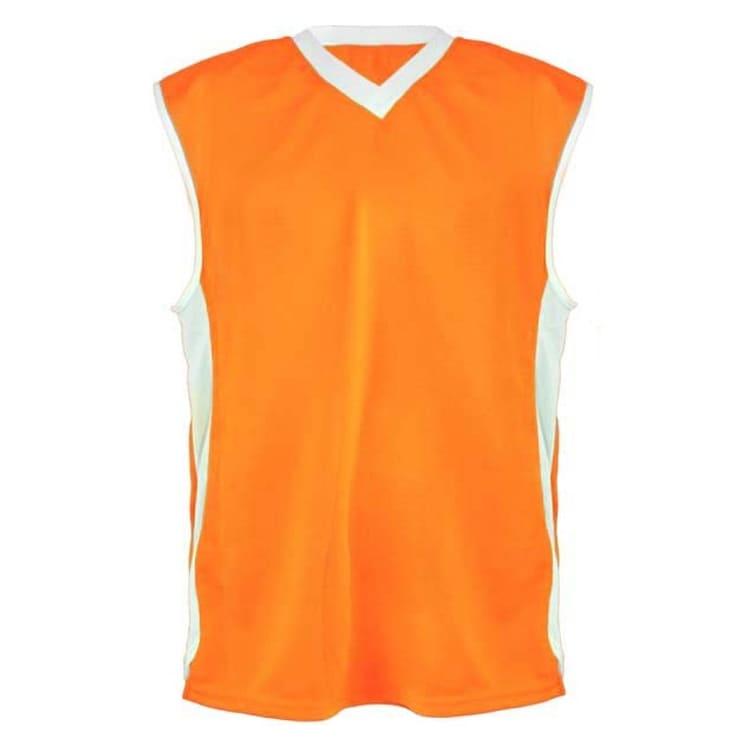 5bd5481ce6 Camisa de Basquete Laranja com Branco - UNIPLACE - Coletes e ...