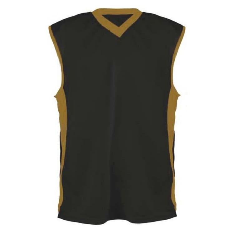 2a04b26b88 Camisa de Basquete Preto com Dourado - Coletes Personalizados e ...