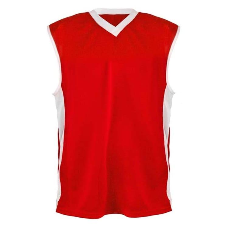 361eba65c2 Camisa de Basquete Vermelha com Branco - UNIPLACE - Coletes e ...
