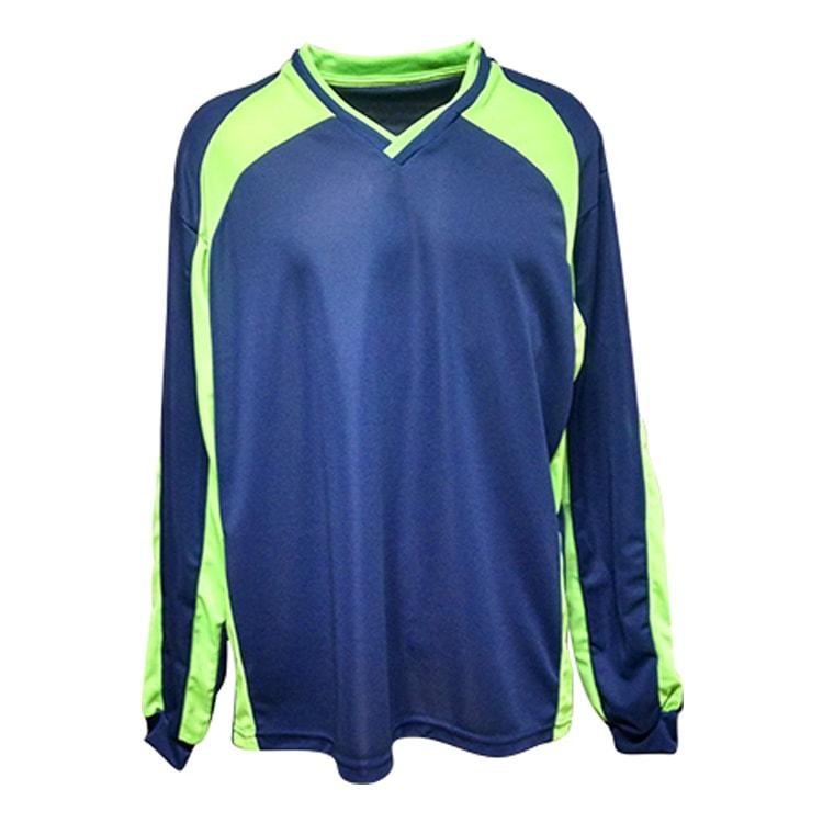 Camisa de Goleiro Turim Azul Marinho com Verde Limão - UNIPLACE ... 7c6a4771aad8b