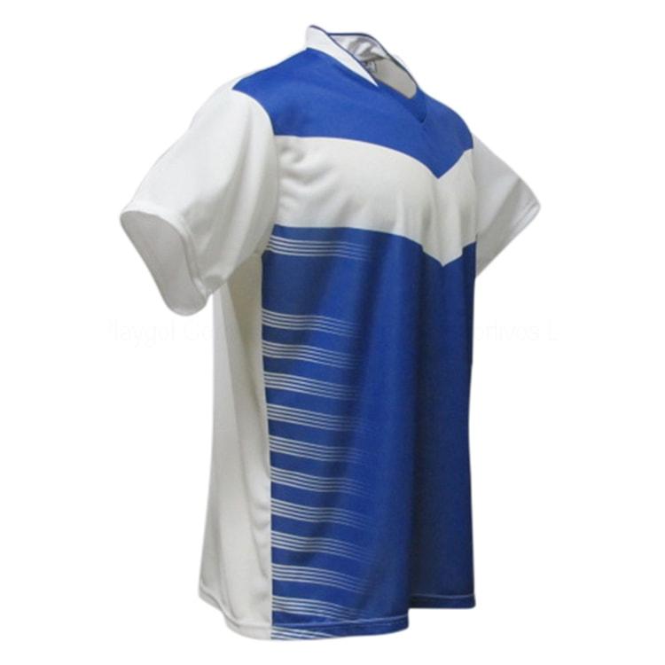 437196a917 Camisa de Futebol Dubai Branco com Azul Royal - UNIPLACE - Coletes e ...