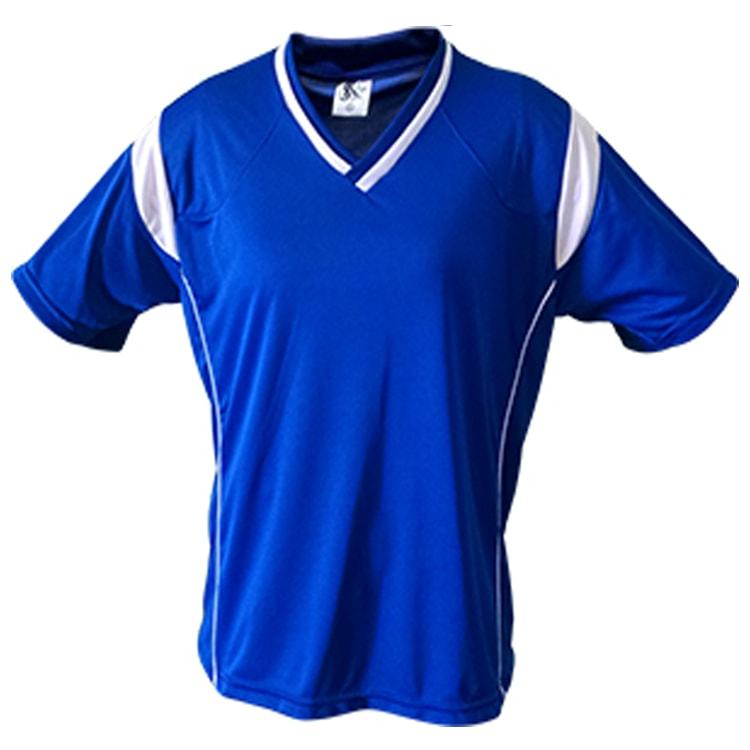 606868f78d Camisa de Futebol Ferrara Azul Royal com Branco - UNIPLACE - Coletes ...