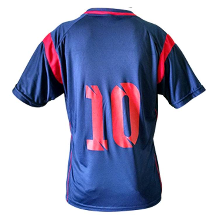 4f2db49d10 Kit Uniforme de Futebol Feminino Ferrara Azul Marinho com Vermelho ...