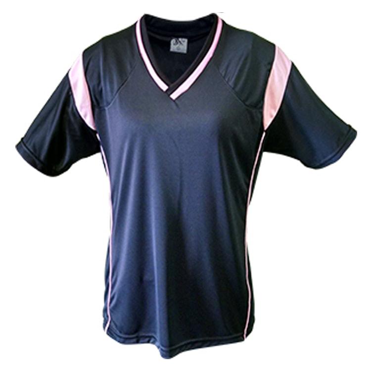 Camisa de Futebol Ferrara Preta com Rosa - UNIPLACE - Coletes e ... 285dc6cbbf46b