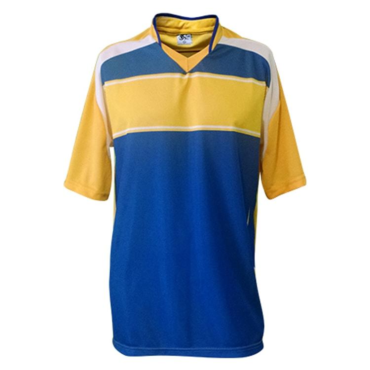 e6289616e5653 Camisa de Futebol Lottus Premium Amarelo com Azul Royal - Coletes ...