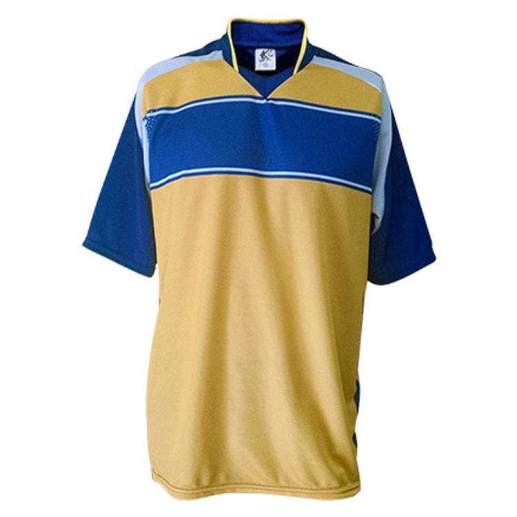 d8b31af21d3b1 Camisa de Futebol Lottus Premium Azul Royal com Amarelo - Coletes ...