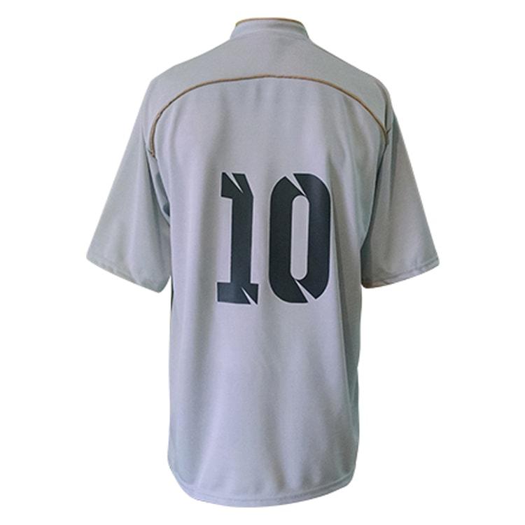 Camisa de Futebol Lottus Premium Cinza com Preto e Dourado ... 0adbebff9b732