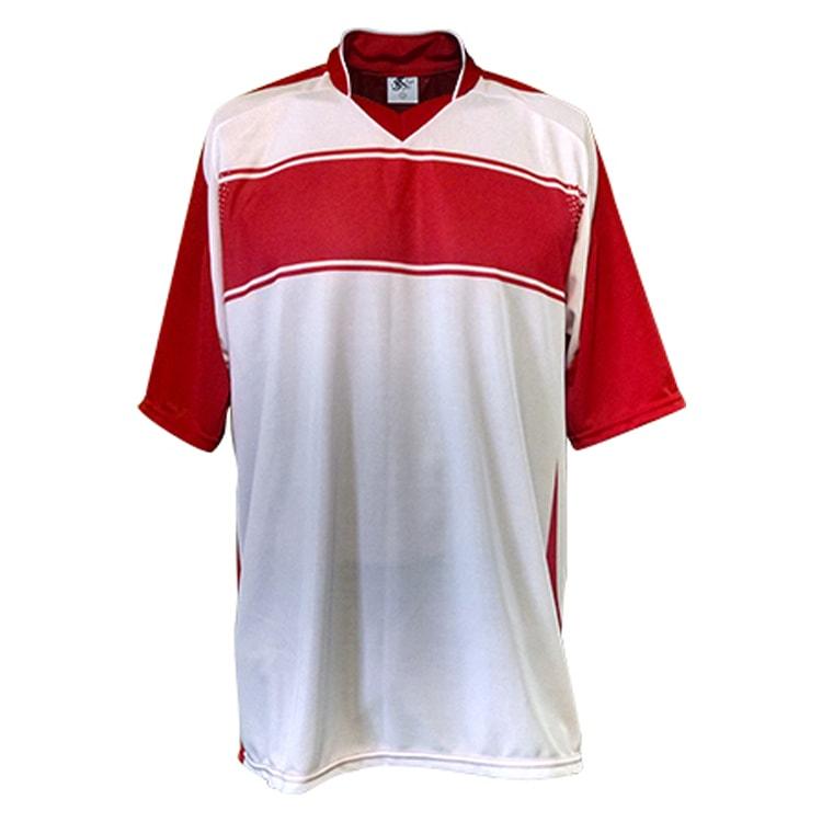 44e4ea8cc2 Kit Uniforme de Futebol Lottus Branco com Vermelho - UNIPLACE ...