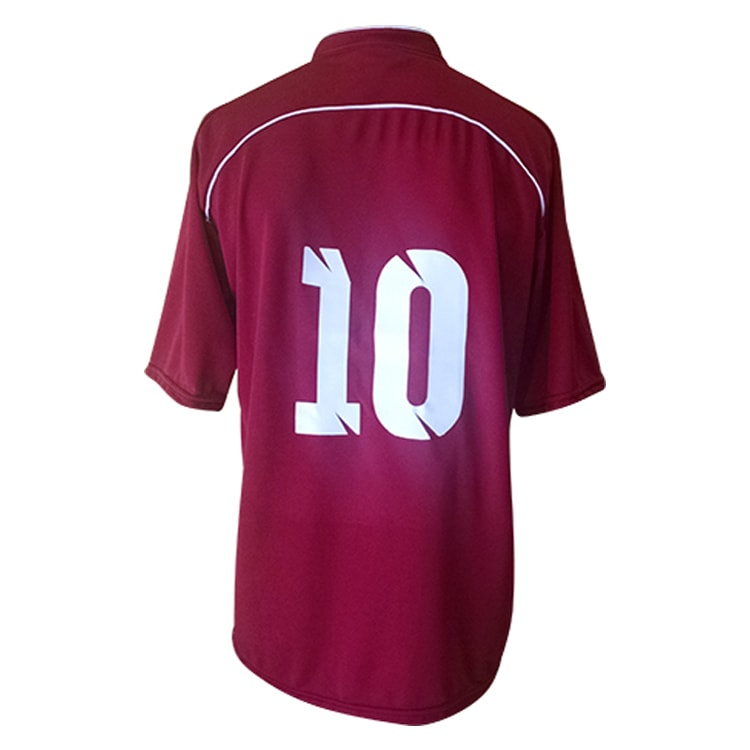 Camisa de Futebol Lottus Premium Vinho com Branco - UNIPLACE ... 3d5a75a1fbdca