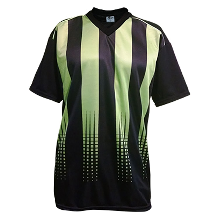 Camisa de Futebol Sorento Preto com Verde Limão - UNIPLACE - Coletes ... 79483bf792c5d