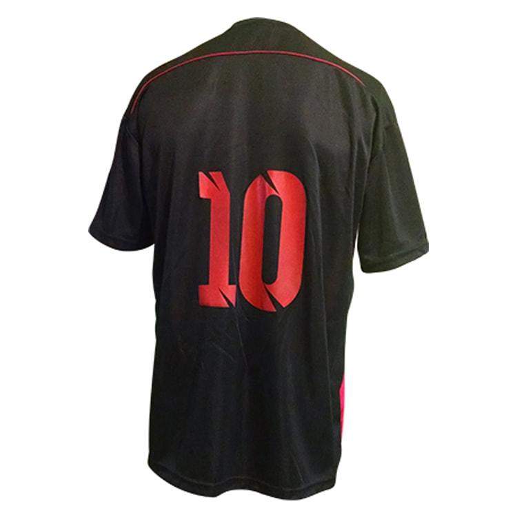c04cbebaf7 Camisa de Futebol Sorento Preto com Vermelho - UNIPLACE - Coletes e ...