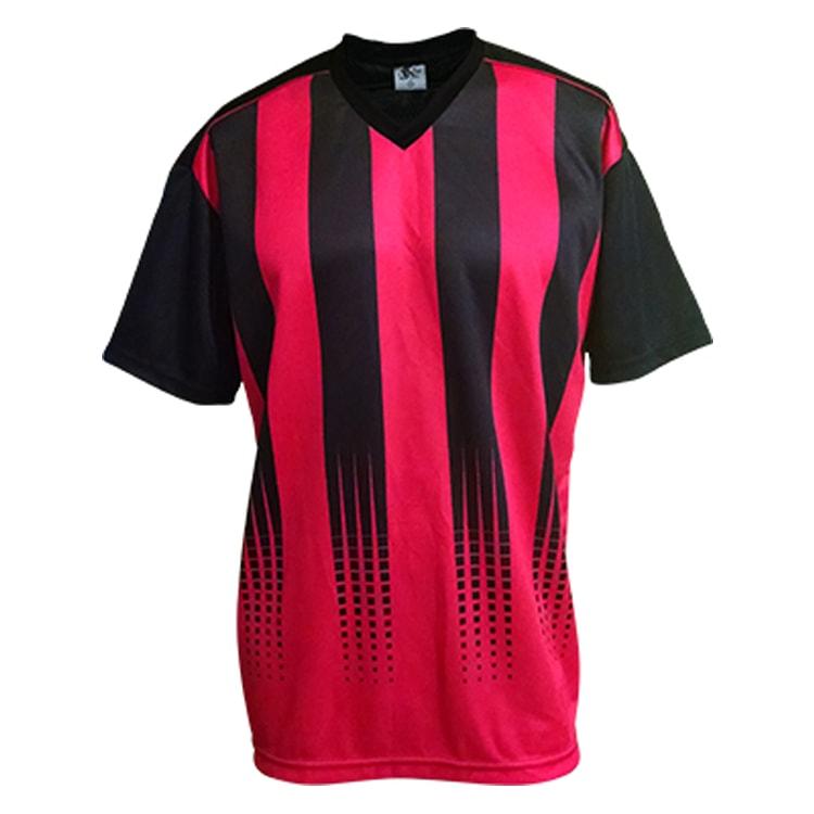 9f342d6f9a Camisa de Futebol Sorento Preto com Vermelho - UNIPLACE - Coletes e ...