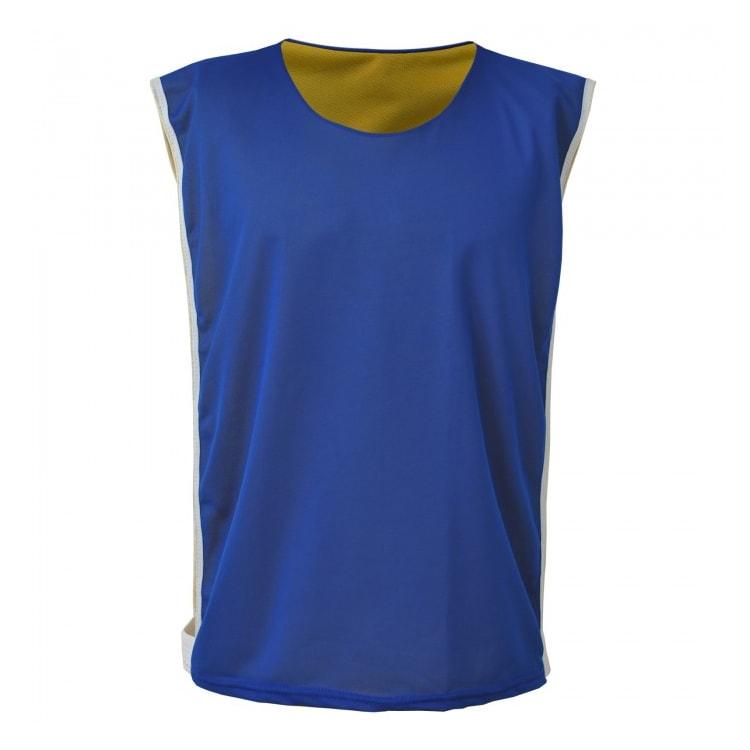 025beb295ea47 Colete de Futebol Dupla Face Dry Azul Royal com Amarelo - Coletes ...