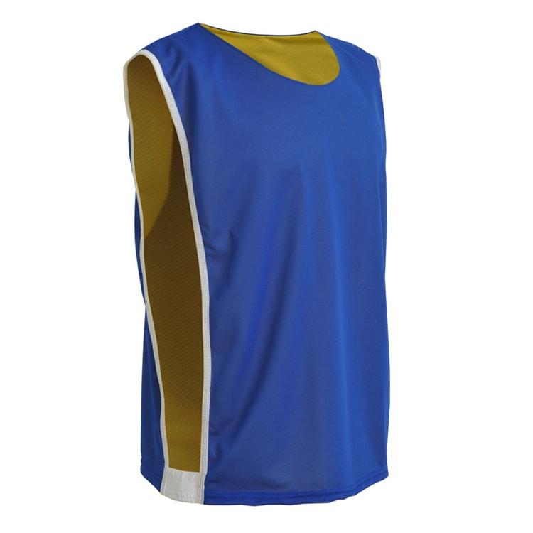33bfe500133d4 Colete de Futebol Dupla Face Dry Azul Royal com Amarelo - Coletes ...